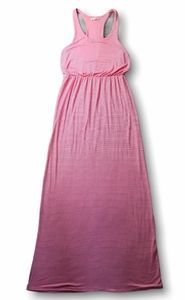 Rolla Coster Pink and White Striped Maxi Dress